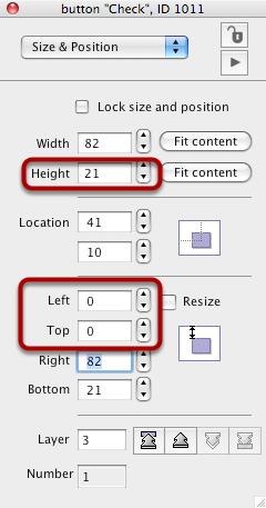 Edit Checkbox Properties