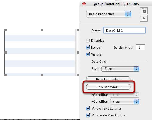 Edit Row Behavior