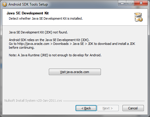 Installing the Android SDK Without the Java SDK
