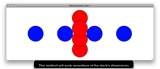 Generating locations based on the dimensions of the stack