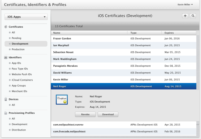 Downloading and Installing a Distribution Certificate