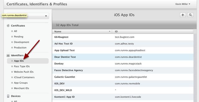 Create App ID