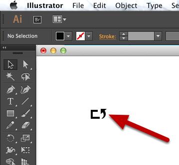 Open or create your shape in Adobe Illustrator