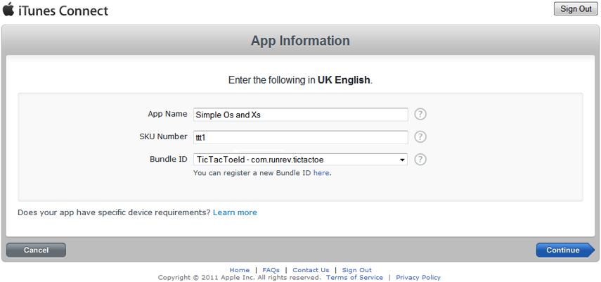Provide Basic Application Information