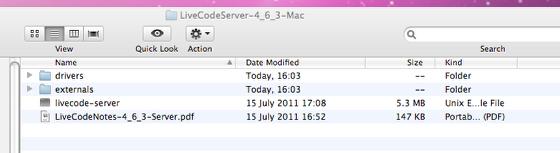 LiveCode Server Distribution