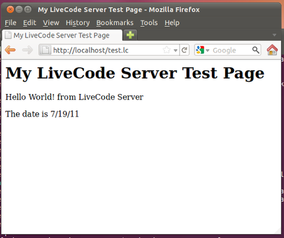 Create and view a test page