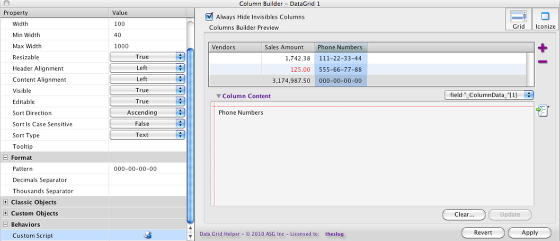 Formatting the Phone Number Column