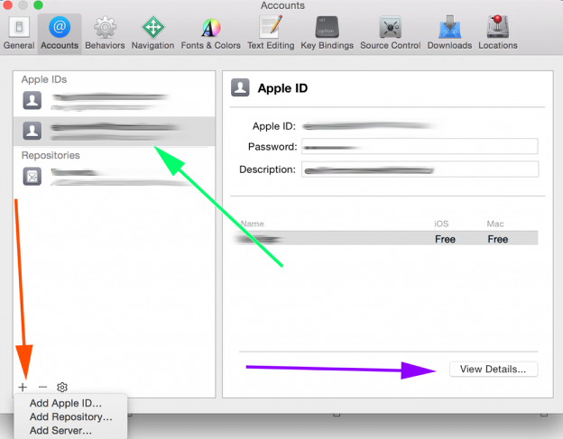 Add Apple ID to Xcode