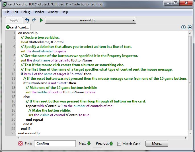 Using the Script Editor