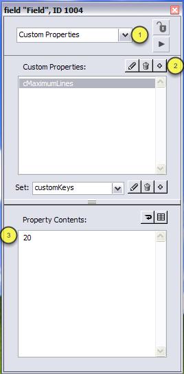 Creating Custom Properties using the Property Inspector