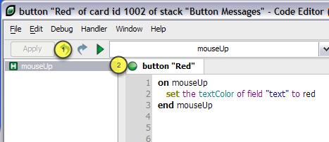 Scripting the Button