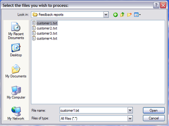 The Answer File Dialog