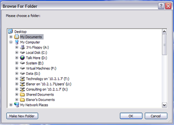 The Answer Folder Dialog