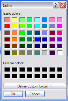 The Answer Color Dialog