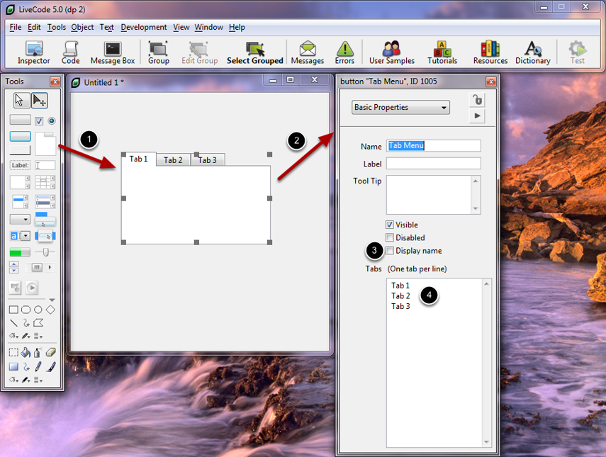 Creating Tabbed Buttons