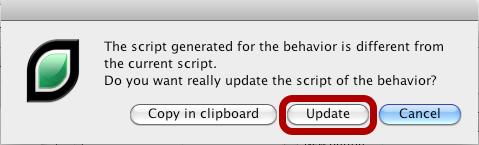 Confirm Script Updating