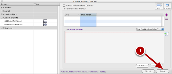 Update Column Content Then Apply The Column Builder Preview To The DataGrid