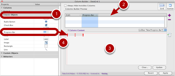 Button Creation Using Classic Objects and Column Content