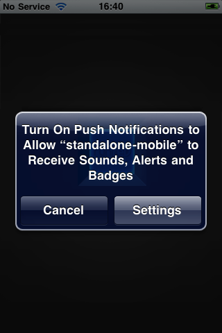 Disallowing Push Notifications