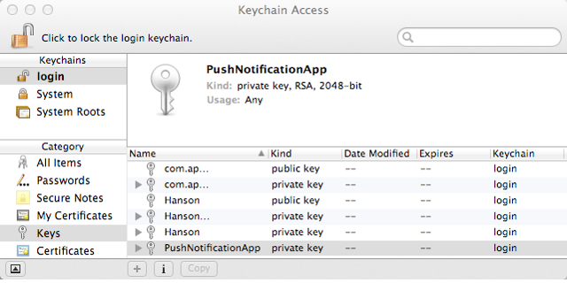 Saving the Private Key