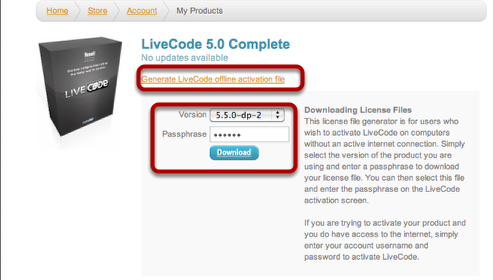 Step 4: Generate Offline activation file