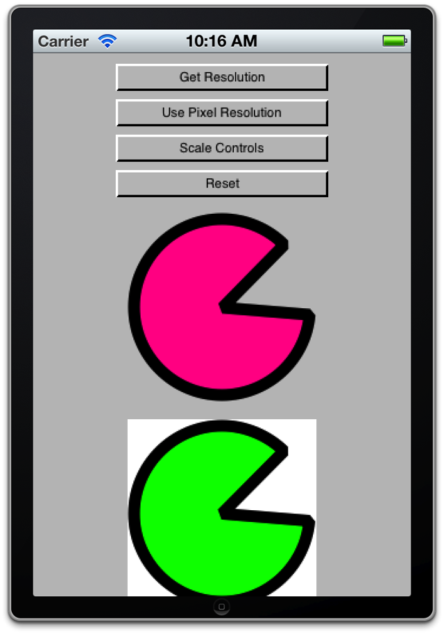 Using Pixel and Logical Resolution