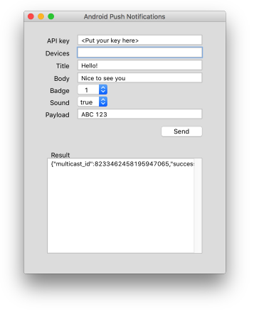 Sending a Push Notification (LiveCode)