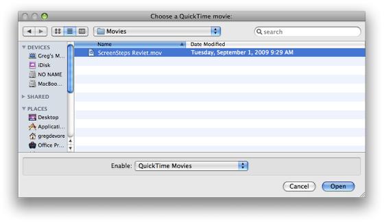 Select Movie File