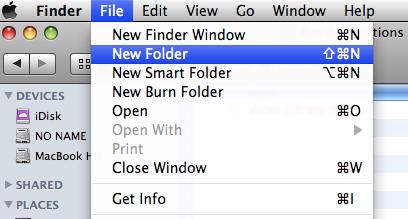 Create New Folder