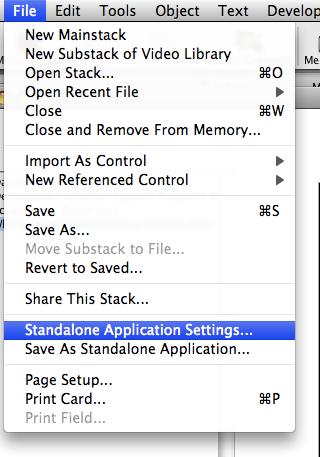 Open Standalone Application Settings Dialog