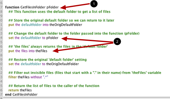The GetFilesInFolder Function