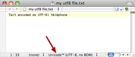 UTF-8 Encoded Text File