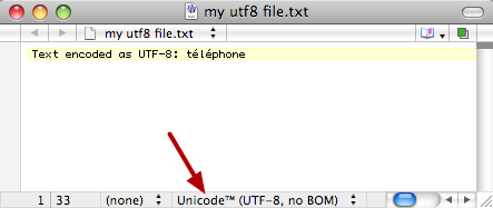 UTF-8 Encoded Text File