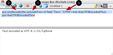 Retrieving UTF-8 Text From a Field