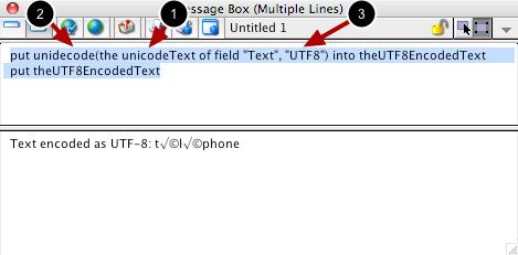 Retrieving UTF-8 Text From a Field
