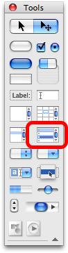 Locate Data Grid on Tools Palette