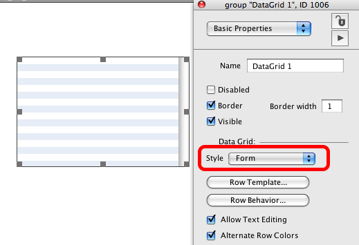 """Change Style to """"form"""""""