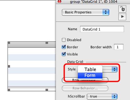 Change Data Grid Style