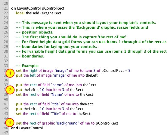 The LayoutControl Message
