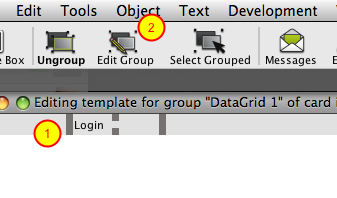 Edit Column Group