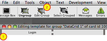Edit the Row Template Group