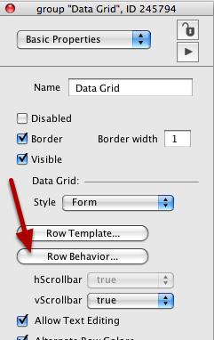 Getting Data In A Row Behavior