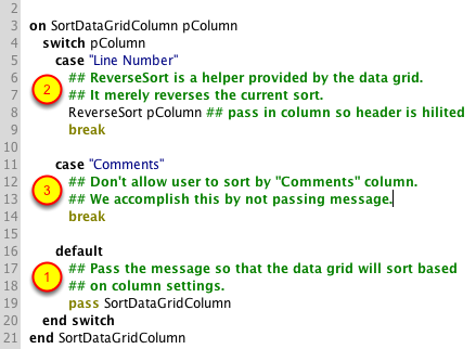 The Data Grid Group Script