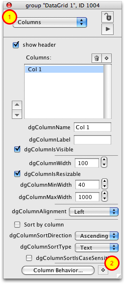Create Column Template