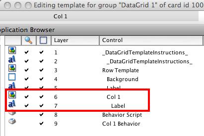 Edit Column Template