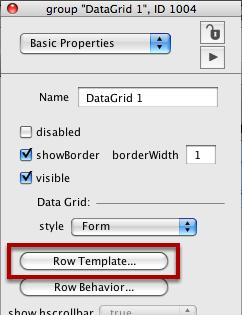 Edit Row Template