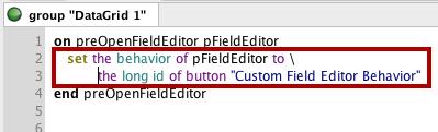 Assign Your Custom Behavior to Field Editor