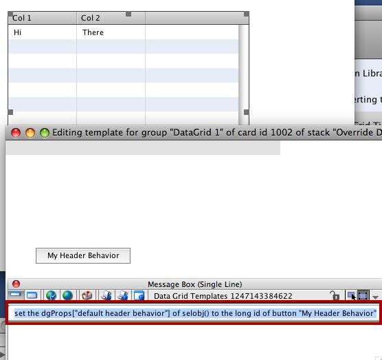"Assign ""default header behavior"" Property"