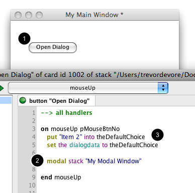 Opening The Dialog