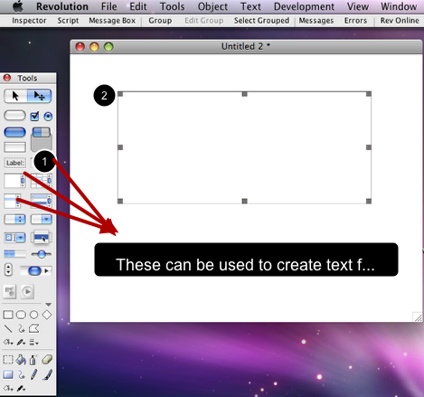 Creating your text field.